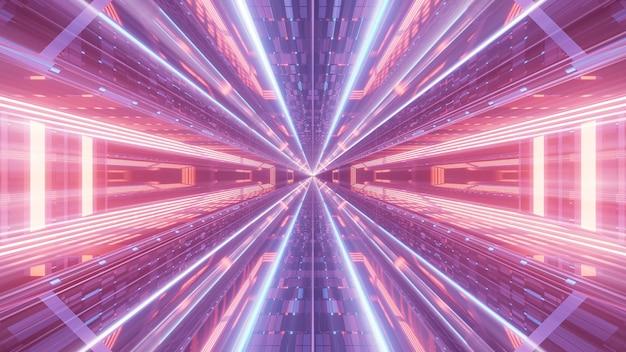 Разноцветные неоновые лазерные фонари