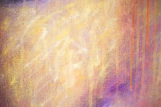 キャンバス上の抽象的なアクリル絵の具のテクスチャ背景のカラフル。