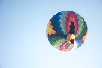 Colorful of hot air balloons in blue sky
