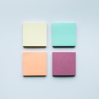 다채로운 notepaper set.business 창의성, 브레인스토밍 아이디어, 협력 개념