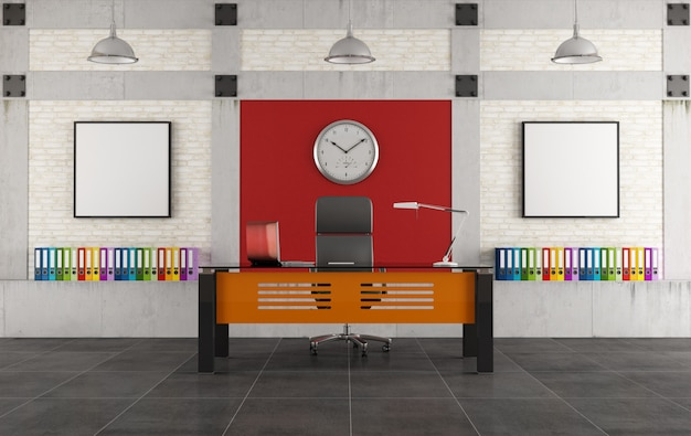 Colorful office in a loft