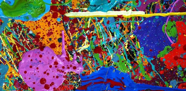 カラフルな油絵の具の抽象的な背景のテクスチャ。