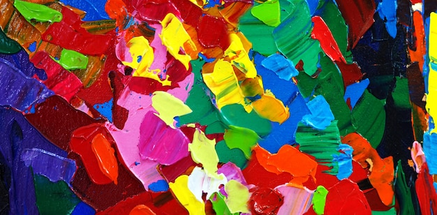 カラフルな油絵筆ストローク抽象的な背景テクスチャ。