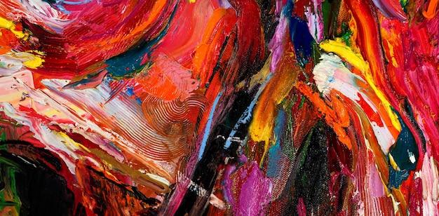 다채로운 오일 페인트 브러시 스트로크 추상적 인 배경 텍스처.