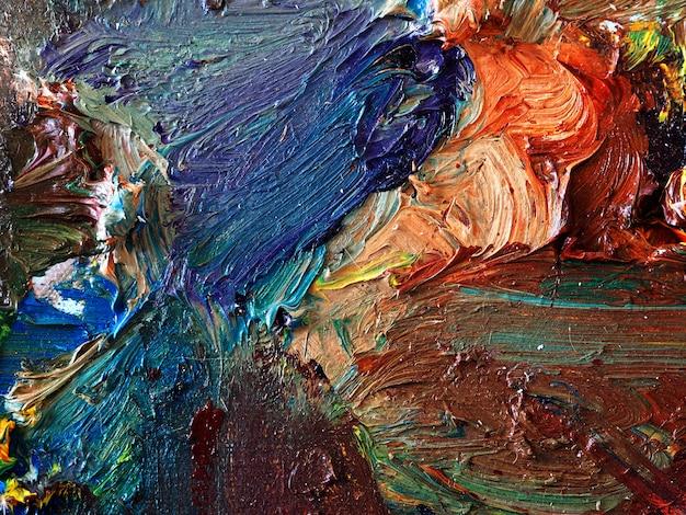Красочная масляная краска multi цвета абстрактный фон.
