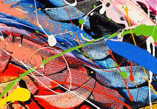 Colorful oil paint multi colors abstract background.