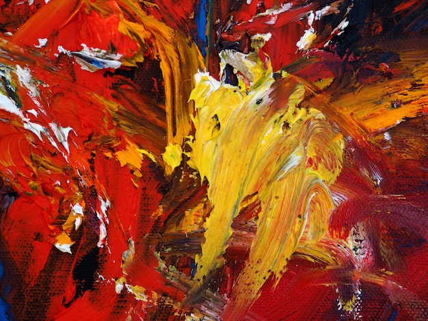 カラフルな油絵の具多色テクスチャ抽象的な背景