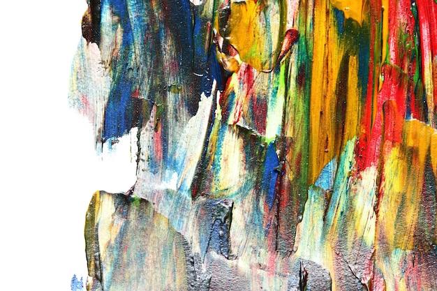 ブラシストロークでカラフルな油絵のテクスチャ。孤立したエッジと抽象的な背景