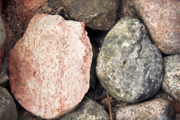 Colorful old small rocks