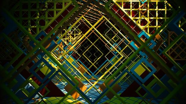 Красочный фон геометрии формы для рекламы в плоском стиле искусства и абстрактной сцене