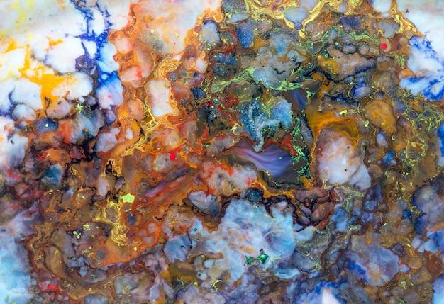 Colorful paint mixture