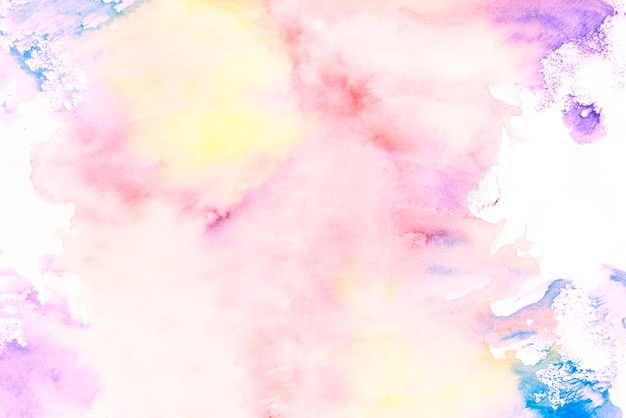Colorful painting texture on white background