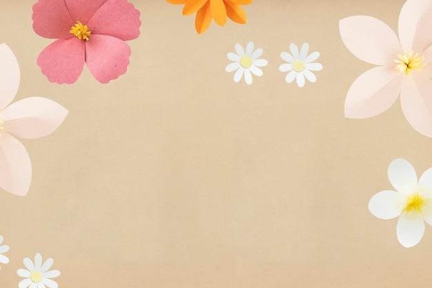 カラフルなペーパークラフトの花の背景