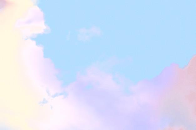 다채로운 파스텔 구름 질감 배경