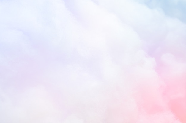 Colorful pastel fluffy cotton candy background, soft color sweet candyfloss, abstract blur