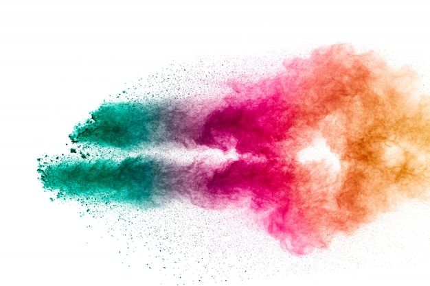 Colorful pastel powder explosion.
