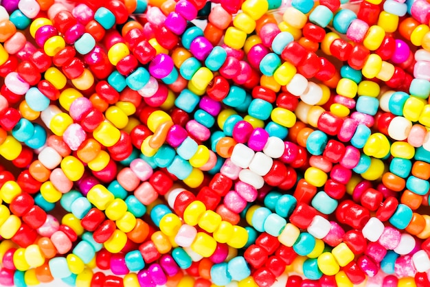 Colorful pearls decorative closeup