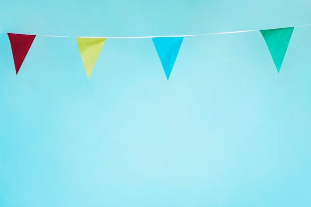 Colorful pennant garland