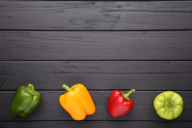 Colorful pepper on a black background