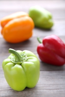 Colorful pepper on a grey background
