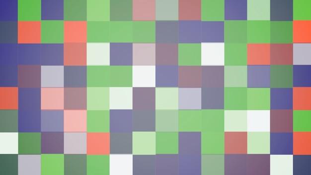 カラフルなピクセルパターン、抽象的な背景。ビジネスのためのエレガントで豪華なダイナミックな幾何学的なスタイル、3dイラスト