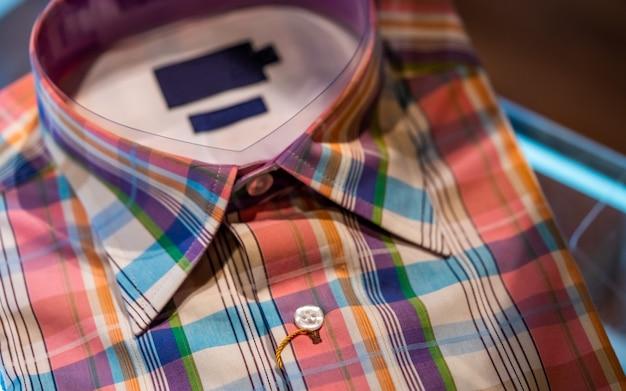 Colorful plaid shirt