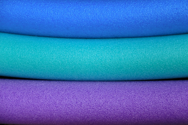 Colorful of plastic foam tube for background