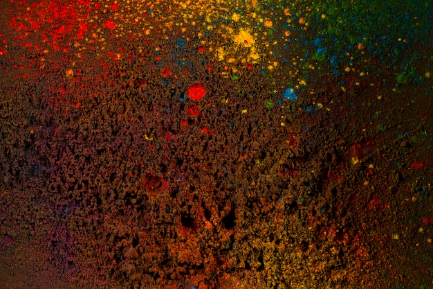 Colorful powder colors on black background