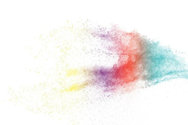白地にカラフルな粉塵爆発