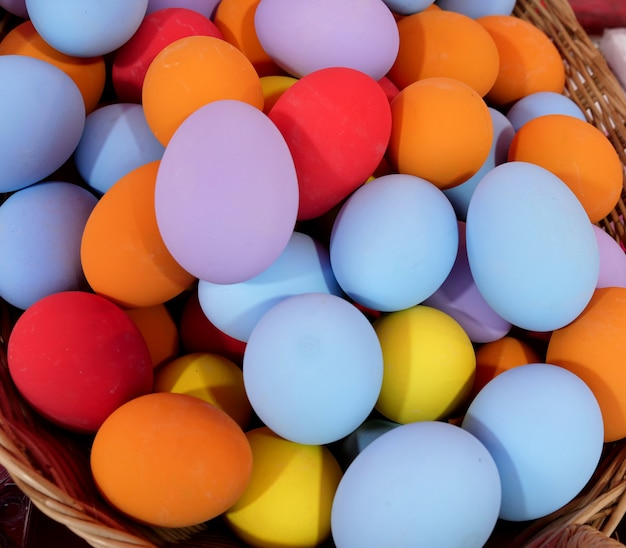 Colorful preserved duck eggs