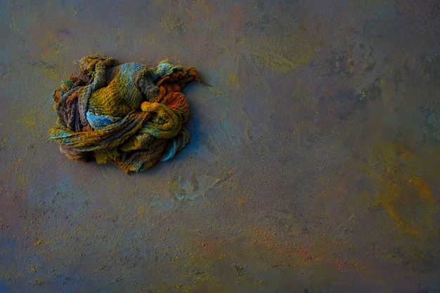 Colorful rag oxide painted background