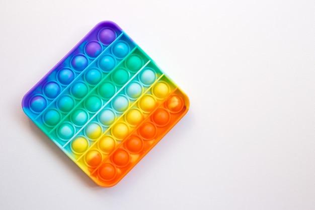 Красочная радуга-антистресс непоседа push pop it сенсорные игрушки для детей