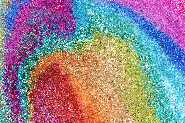 Colorful rainbow glitter background texture
