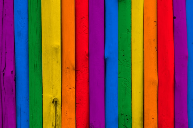 Colorful rainbow lgbt wood background