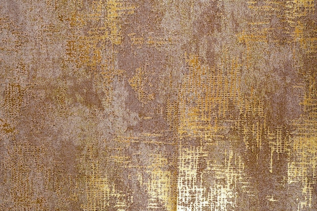 Colorful retro tapestry textile pattern with gold texture