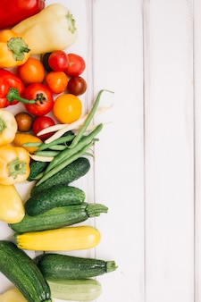 Colorful ripe vegetables