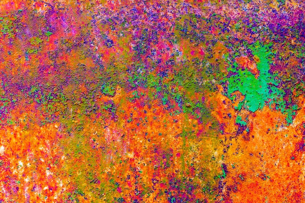 Colorful rusty metal surface background