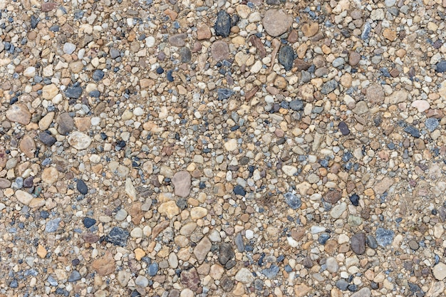 Colorful sand or pebble texture. seamless texture on ground.