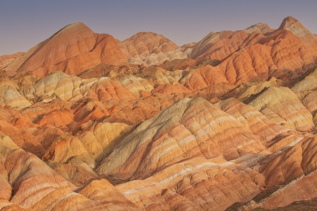 Colorful sandstone mountains in china