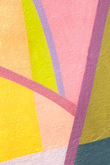 Colorful shapes wall background