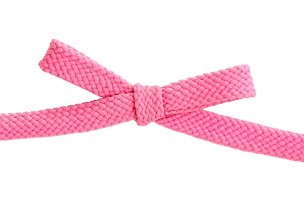 Красочные шнурки, изолированные на белом фоне