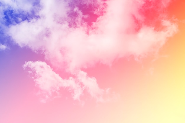 Colorful sky and clouds.