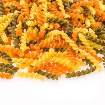 Pasta spirale colorato