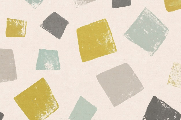 Colorful square pattern background handmade prints