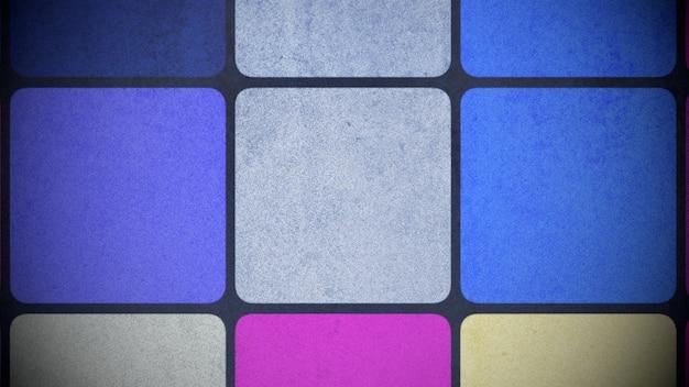 カラフルな正方形のパターン、抽象的な背景。エレガントで豪華な幾何学的なスタイルの3dイラスト
