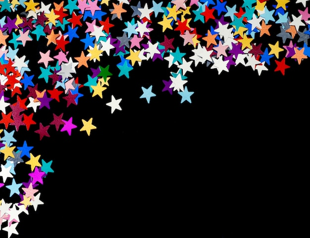 クリスマスのきらめき星空の背景