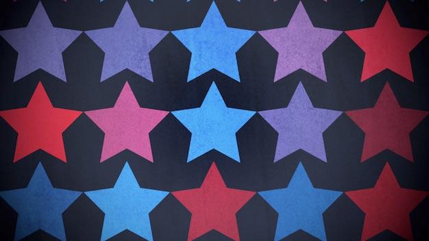 カラフルな星のパターン、抽象的な背景。エレガントで豪華な幾何学的なスタイルの3dイラスト