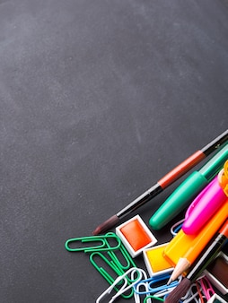 Colorful stationery back to school