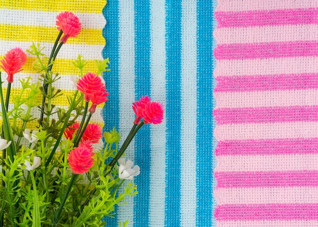 Colorful striped fabric perfect for background.
