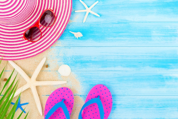 Colorful summer holiday beach background